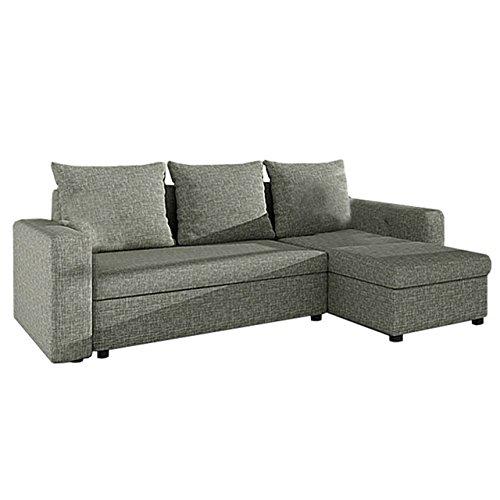 Ecksofa Top SALE! Sofa Eckcouch Couch! mit Schlaffunktion und zwei Bettkasten! Ottomane Universal, L-Form Couch Schlafsofa Bettsofa Farbauswahl (Salsa 80)