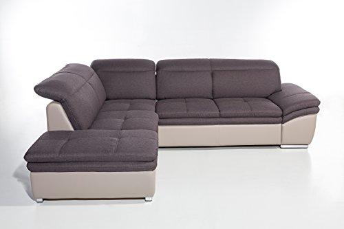 Cotta C785892 C312 D213 Frisco Polsterecke Stoff, braun, 225 x 275 x 83 cm