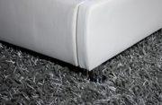 SAM® Polsterbett Zarah 160 x 200 cm weiß, Bett mit chrom-farbenen Füßen, modernes Design, Kopfteil abgesteppt, als Wasserbett verwendbar 2