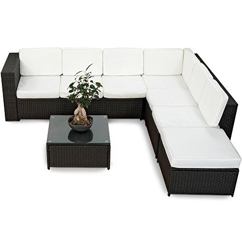 20tlg-Deluxe-Gartenmbel-Lounge-Set-Garnitur-Bahamas-Sitzgruppe-Gartenmbel-Rattan-Set-Geflecht-Polyrattan-inkl-Sitzkissen-schwarz-von-XINRO-0