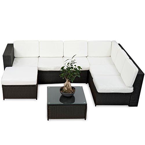 20tlg-Deluxe-Lounge-Garnitur-Set-Gruppe-Polyrattan-Sitzgruppe-Gartenmbel-Loungembel-handgeflochten-schwarz-von-XINRO-0