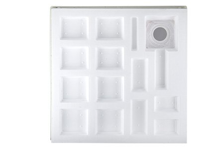 aquabad duschwanne duschtasse mit styroportr ger zum befliesen quadratisch 80x80x17 cm 2 m bel24. Black Bedroom Furniture Sets. Home Design Ideas