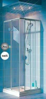 Eckeinstieg Duschkabine Echtglas Sicherheitsglas Silberne Profile 75x75 75x80 75x90 90x75 80x75
