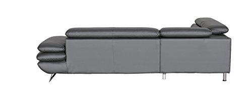Cotta C733896 D208 Polsterecke Lederimitat, grau, 223 x 265 x 74 cm