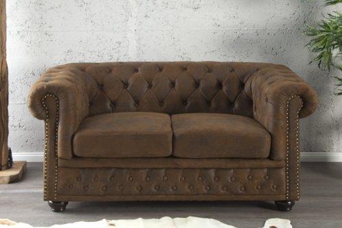 Invicta Interior 17109 Chesterfield Sofa 2-er, Antik Look
