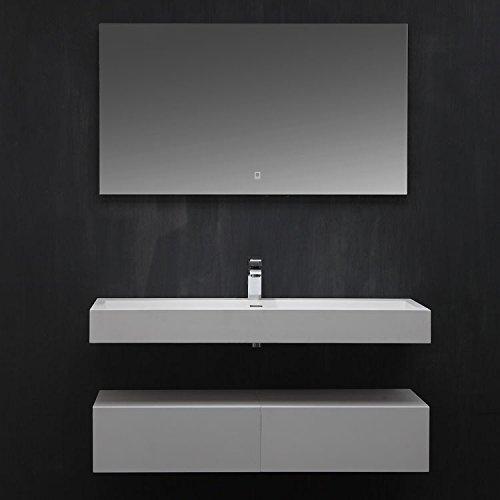 STONEART Badmöbel LP4512 SET weiß 120x48cm glänzend