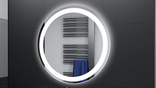 Badspiegel Designo Rund MAR111 mit A++ LED Beleuchtung - 40 cm - Made in Germany - TIEFPREISGARANTIE