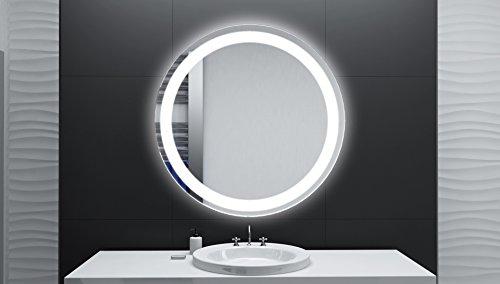 badspiegel designo rund mar111 mit a led beleuchtung 40 cm made in germany. Black Bedroom Furniture Sets. Home Design Ideas