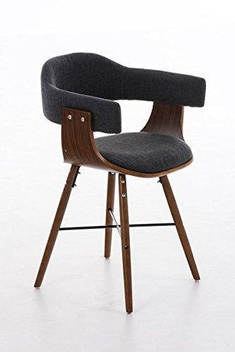 clp retro esszimmer stuhl barrie v2 stoff holzgestell walnuss gastro stuhl mit armlehne. Black Bedroom Furniture Sets. Home Design Ideas