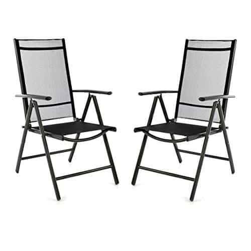 2er-Set-Klappstuhl-schwarz-Aluminium-7-fach-verstellbar-Gartenstuhl-mit-Armlehne-witterungsbestndig-leicht-stabil-Rahmen-anthrazit-Balkon-Terrasse-0