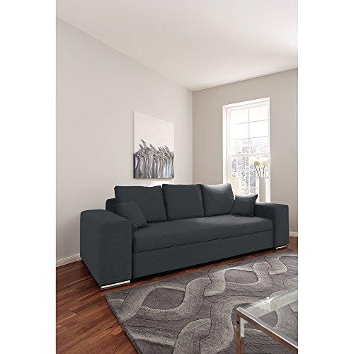 3-Sitzer Schlafsofa mit Bettkasten, ca. 255 x 98 x 89 cm, hellbraun