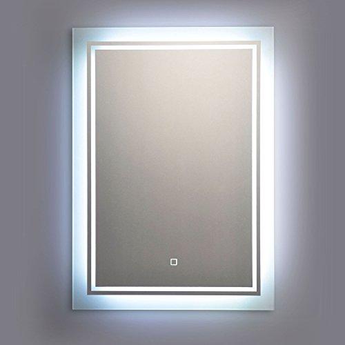 Wandspiegel mit LED Beleuchtung 40 x 60 cm