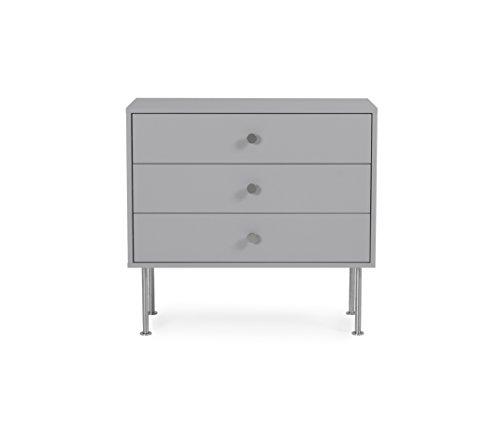 Tenzo 1783-012 Yay Designer Kommode, Holz, grau, 35 x 79 x 75 cm