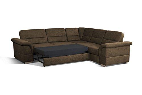 Cavadore 5900984021471 Polsterecke Ecksofa, Schaumstoff, braun, 262 x 233 x 87 cm