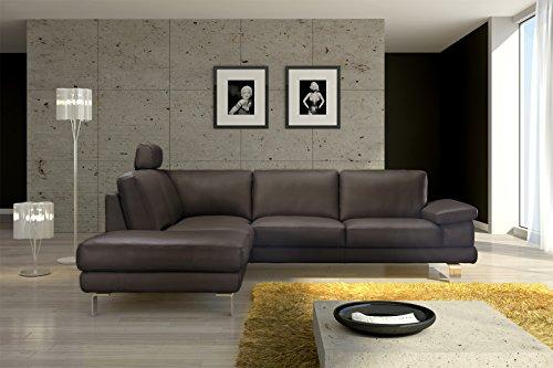 SAM® Design Ecksofa Mezzo in braun Sofa 220 x 270 cm pflegeleicht modern, Kopfstütze kann optional angebracht werden