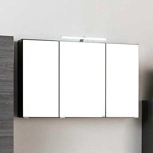 3D Spiegelschrank in Grau LED Beleuchtung Pharao24