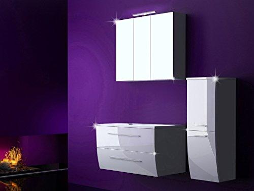 4-Tlg-Badmbel-Set-Badezimmermbel-Komplett-Set-Waschbeckenschrank-90-cm-mit-Waschtisch-Spiegelschrank-mit-LED-0