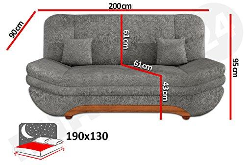 Sofa Weronika Lux mit Bettkasten und Schlaffunktion, Schlafsofa, Große Farb- und Materialauswahl, Couch vom Hersteller, Wohnlandschaft (Lux 10 + Lux 06)