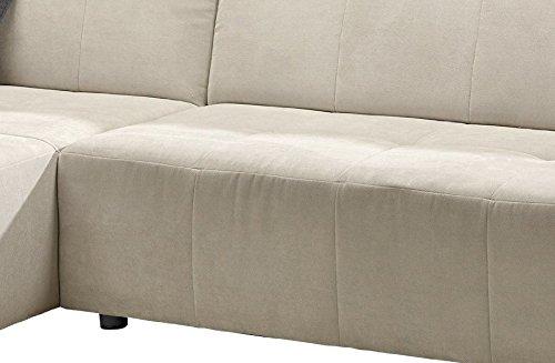 Polsterecke Futoro/Longchair-3er/300x71x178 cm/Solo ecru