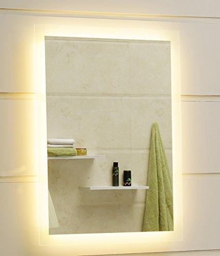 badspiegel led spiegel gs084n mit beleuchtung durch satinierte lichtfl chen badezimmerspiegel. Black Bedroom Furniture Sets. Home Design Ideas