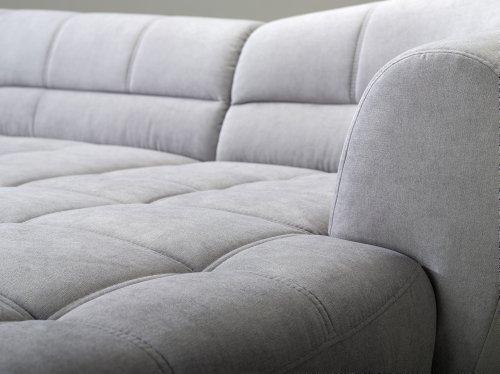 Cavadore 5018 Polsterecke Rihanne, 3-er Bett Longchair XL, 277 x 81 x 173 cm, Euphoria grau
