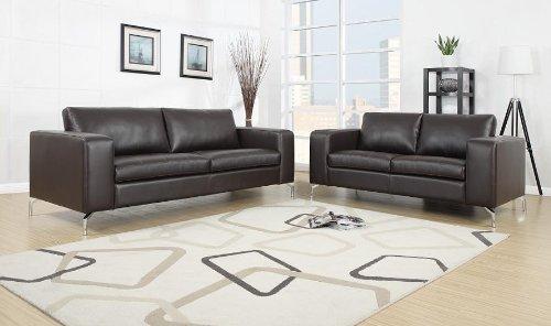 Madison 2er Sofa Pellissima Braun Kunstleder couch