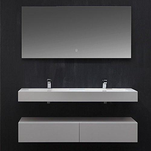 STONEART Badmöbel LP4514 SET weiß 140x48cm glänzend