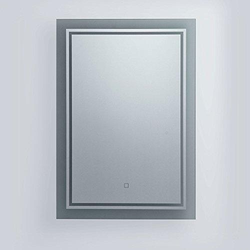 wandspiegel mit led beleuchtung 40 x 60 cm m bel24. Black Bedroom Furniture Sets. Home Design Ideas