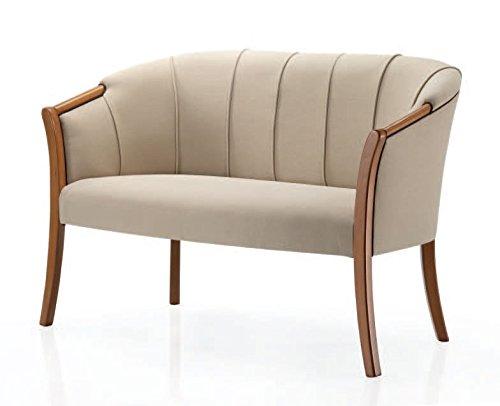 Ledersofa Design und Stil Muschel
