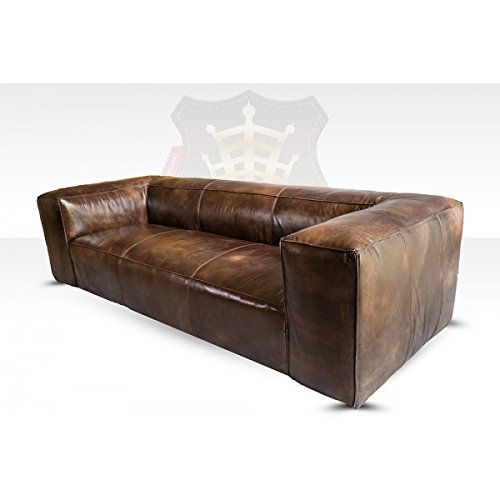 Lounge Sofa Tribeca 3-Sitzer Leder Antique Whisky (rauchiges rotbraun) HALO est 1976 Echtleder
