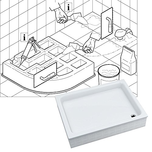 duschwanne duschbecken komplettset m02 aquabad comfort magno ma e 80x100cm rechteckig. Black Bedroom Furniture Sets. Home Design Ideas