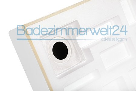 AQUABAD® Duschwanne/Duschtasse mit Styroporträger, Quadratisch 90x90x17 cm, integrierte Acrylschürze