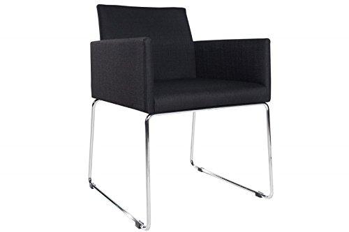 DuNord Design Stuhl Esszimmerstuhl 2er MARCO Struktur schwarz anthrazit Design Küchenstuhl