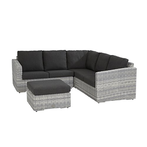 4Seasons Outdoor Edge Loungegruppe 4-teilig inkl Kissen Polyrattan Ice Wicker