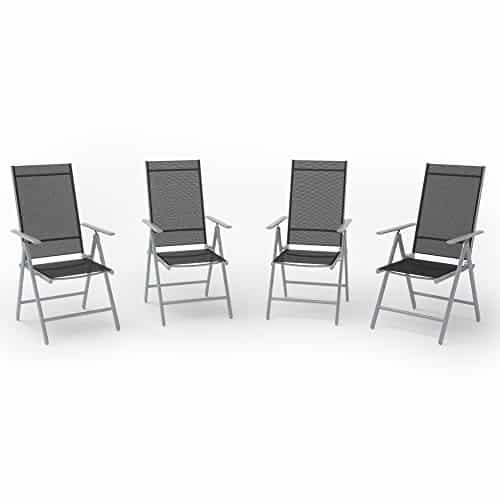 4er set alu gartenstuhl klappstuhl hochlehner campingstuhl. Black Bedroom Furniture Sets. Home Design Ideas
