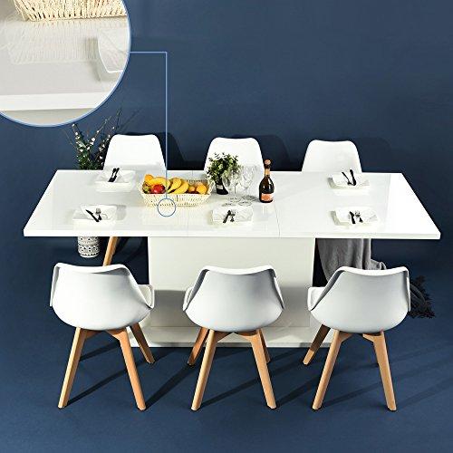 4er-Set-Esszimmersthle-mit-Massivholz-Bein-Retro-Design-Gepolsterter-lStuhl-Kchenstuhl-Holz-Wei-0