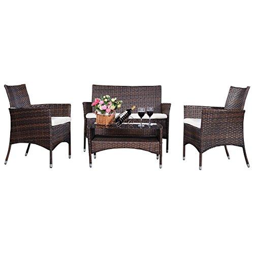 4tlg-Gartengarnitur-Gartenmbel-Rattanmbel-Lounge-Sitzgruppe-Sofa-Garten-Set-mit-Glastisch-Lounge-Set-Ratten-Lounge-Polyrattan-0