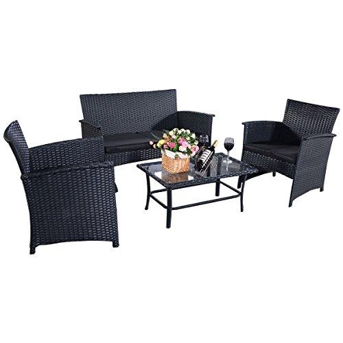 4tlg-Poly-Ratten-Gartengarnitur-Gartenmbel-Rattanmbel-Lounge-Sitzgruppe-Sofa-Garten-Set-mit-Glastisch-Lounge-Set-Ratten-Lounge-Polyrattan-Schwarz-0