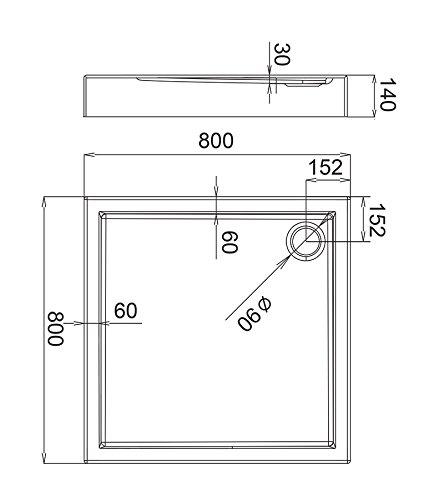 AQUABAD® Duschwanne Comfort Ultima 80x80cm Quadrat