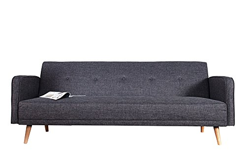 Invicta Interior 35843 Design Schlafsofa Scandinavia 210 cm, anthrazit