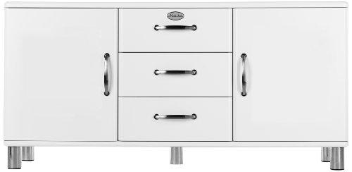 Tenzo 5176-005 Malibu - Designer Sideboard 73 x 150 x 41 cm, MDF lackiert, weiß