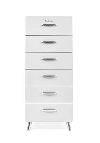 Tenzo 4916-001 Cobra Designer Kommode, 130 x 56 x 43 cm, MDF lackiert, weiß