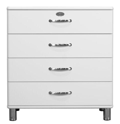 Tenzo 5124-005 Malibu - Designer Kommode 92 x 86 x 41 cm, MDF lackiert, weiß
