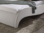 SAM Polsterbett 200x200 cm Macao, Bett aus Kunstleder, weiß, geschwungenes Kopf- und Seitenteil, inkl. zwei Nachttischablagen 2