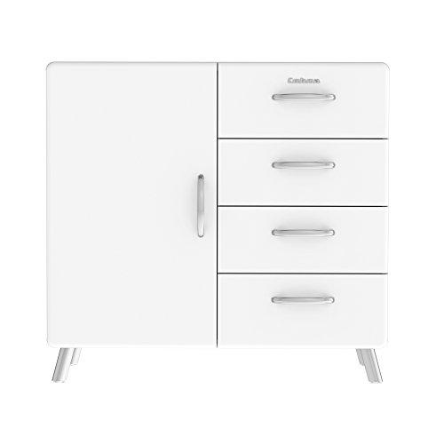 Tenzo 4935-001 Cobra Designer Kommode / Sideboard, 92 x 98 x 43 cm, MDF lackiert, weiß