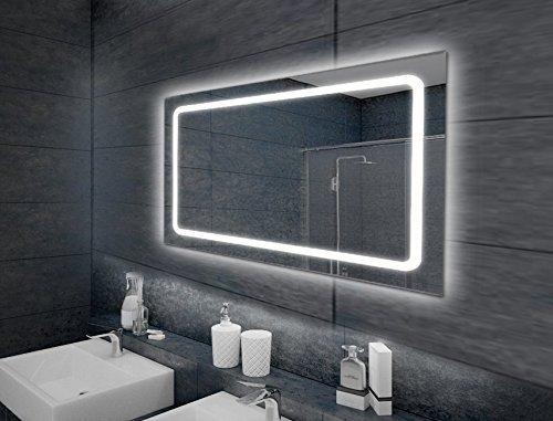 LED-Spiegel, Beleuchteter Badspiegel in verschiedenen Ausführungen 80x60 cm bis 120x70 cm (100 x 65 cm)
