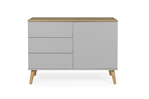 Tenzo 1674-612 Dot Designer Sideboard Holz, grau / eiche, 43 x 109 x 79 cm