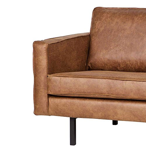 Lounge Sofa in Braun recycling Leder Pharao24