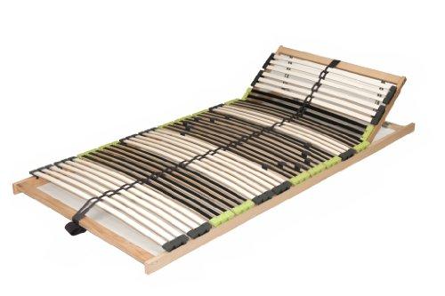 "7 Zonen Lattenrahmen Lattenrost 70x200 cm ""DaMi RelaxKopf"" zerlegt inkl. Härteverstellung 42 Federholzleisten"