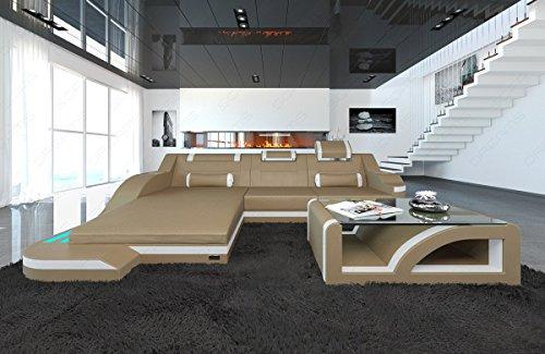 Design Ledersofa PALERMO L Form LED
